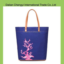 wholesale canvas fashion chevron printed tote bag