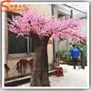Pink artificial cherry blossom branch plastic cherry blossom tree