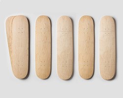 100 canadian maple skateboards/skateboard deck canadian maple/White Maple veneer face fancy commercial plywood