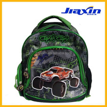 PVC cartoon cars polyester material boy shoulder bag