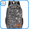 custom printed canvas backpack blank backpack material canvas backpack bag