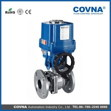 SS304, SS316, SS316L Flange Electrically Operated Ball Valves With Manual Gear
