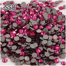 #2058HF SS8 rose 1440pcs heat iron on High Quality Hot Fix Glue on crystals hotfix