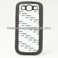 Sublimation cell phone case for samsung galaxy S3 with aluminum sheet