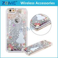 china price new products for iphone 6 3D bling star quicksand liquid mobile phone cases back cover