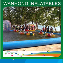 Customized large inflatable water pool inflatable slide with pool
