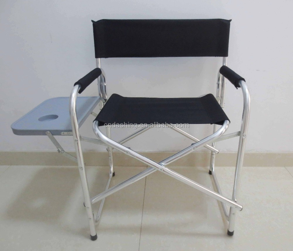 Aluminium Folding Director Chair With Cup Plate And Paper