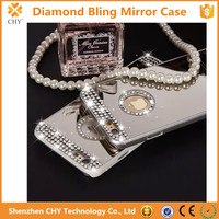 Luxury Diamond Mirror Hard Back Cover Case For Apple iphone 4 4s