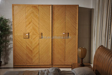 Model:08YG02 3-doors larger space bamboo material solid wood cloth wardrobe cabinet