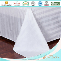 european style white color bed sheets with satin casing