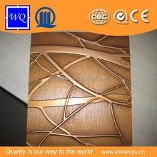 Embossed pattern mdf wave board design 3mm 18 mm beautiful designs
