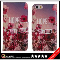 Keno Mobile Phone Accessories Phone Case PU Wallet Leather Case for iPhone 5C, for iPhone 5C Case Leather