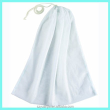 Muilti color large laundry mesh bags for protecting clothes, darwstring nylon mesh laundry bags supplier
