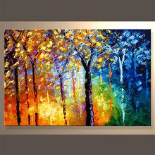 popular y competitivo de aceite de la pintura con el árbol para decoración