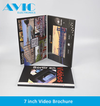 7 inch LCD Video Greeting Card module/avi sex Video Brochure/Video Business Card for advertisement, gift, education