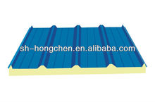 fireproof China rock wool sandwich panel for steel structure