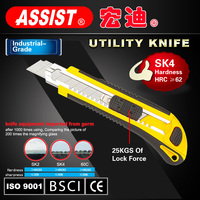 High quality utility knife plastic box cutter safety utility knife with cutting blade manufacturer tools 18mm utility knife