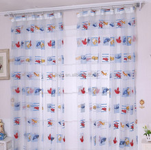 OZP02 children style voile printed curtain with various pattern