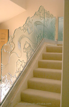 art glass railing, fused glass, fusion glass sheets