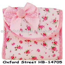 It is a pink sanitary bag in our company