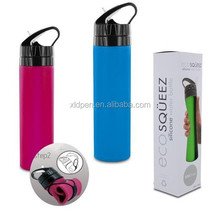 750ml Folding Solf Hot sale Travel Silicone Water Bottle