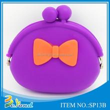 Colorful newest style pretty design popular silicone purse
