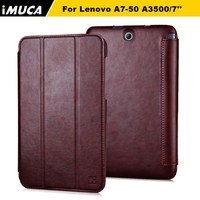 "IMUCA brand concise leather flip case cover for Lenovo A7-50 A3500/7"" tablet"