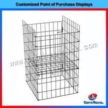 Hot sale metal grid mesh floor shelve beverage wire rack display