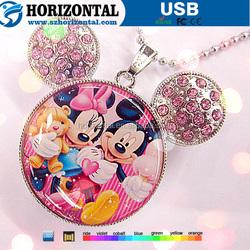 keep a record of Study Funny movie Mickey & Minnie USB flash drive for kids