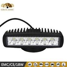 toyota parts 6inch mini 18w led offroad bar KR6181 used for 4wd 4x4 atv utv led driving light
