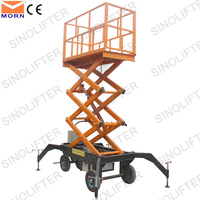 4m towable hydraulic scissor type lifter