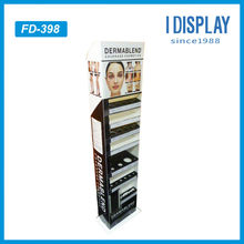 Advertising cosmetic pop up cardboard display stand for store retail