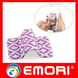OEM Corporate gift Microfiber Cloth Reusable Adhesive Screen Cleaner & Mobile Stand