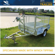 6x4 HOT DIP GALVANISED WELDED TIPPER BOX TRAILER WITH 900mm REMOVEABLE CAGE