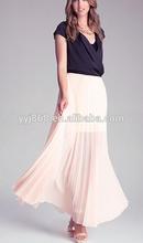 diseño de promoción prendas de vestir las mujeres simplemente impresionante plisado falda larga