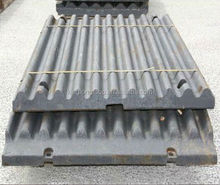 high manganese steel crusher armor plate jaw plate