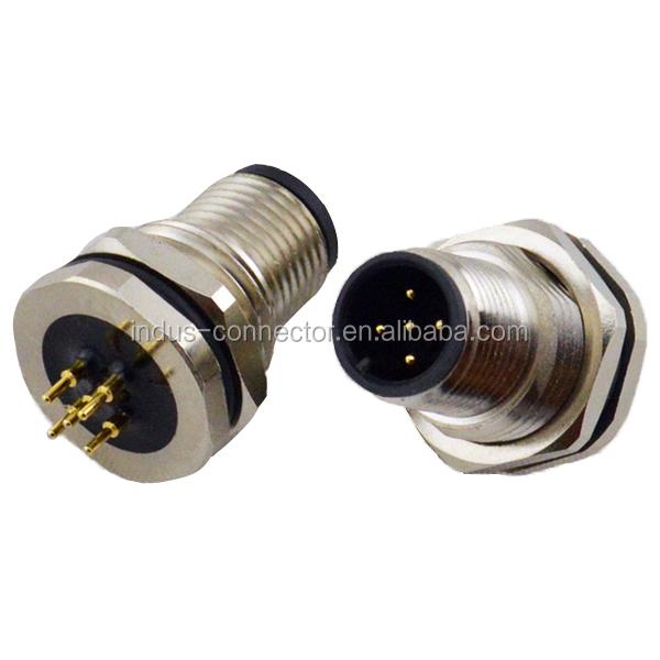 Ip pcb bulkhead m connector pin view