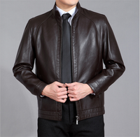 2015 hoe selling latest fashion good leather jacket for men