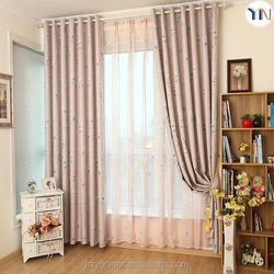 100% polyester blackout fabric for window curtain, print blackout curtain, finished curtain flame retardant