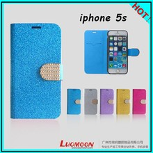 Shiny Diamond Leather Case for Iphone5 Iphone5s