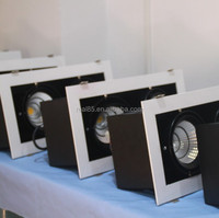 60W grille LED downlight,COB LED,2 heads, 30W x 2, rectangular, tiltable,5000K/4000K/3000K,4200 lumen, 36/60 deg, factory