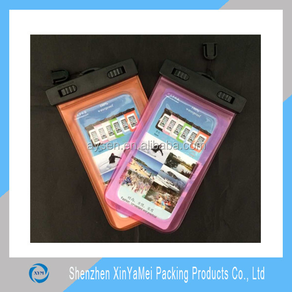 Promotional mobile phone pvc waterproof bag, clear waterproof cell phone bag