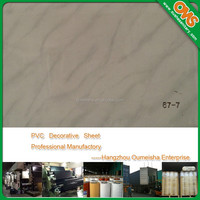 marble texture decorative lamination pvc sheet for furniture covers