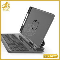 New Black Wireless Bluetooth Keyboard Cover Case with Swivel Stand for Apple ipad Air 2