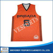 2015 Cheap Latest Yellow Reversible Custom College Basketball Shooting Shirts Sublimated Basketball Jersey