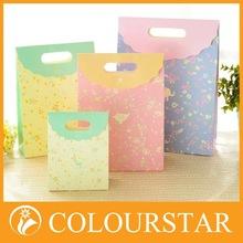 Retail accept custom order logo print handle shopping paper bags