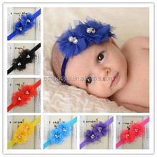 Baby Kids Rhinestone/Pearl/Crystal Hairbands With Flower NEW!