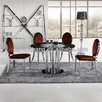 glass top metal frame dining table