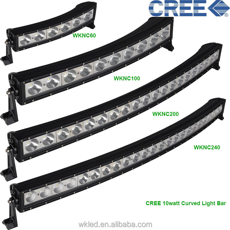 10w 4040 inch curved off road led light bar cree200w curved led dimensions40inch wknc200 curved light bar mozeypictures Images