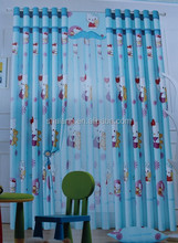 Cartoon-45 for girls blue color 100% polyester printing cute curtain fabric and printing sheer curtain fabric A+B